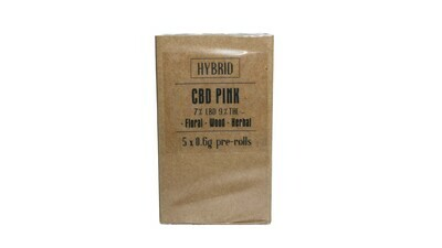 CBD Pink (Indica Dom) Premium Preroll (5/Pack)