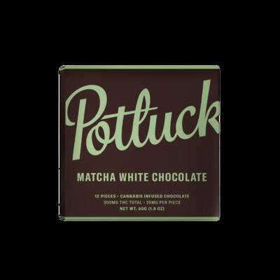 300mg THC (25mg Per Piece) Matcha White Chocolate By Potluck