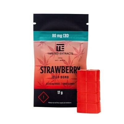 80mg CBD Strawberry Jelly Bomb by Twisted Extracts
