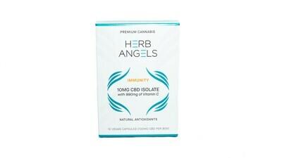 CBD (10mg) + Vitamin C Capsules By Herb Angels
