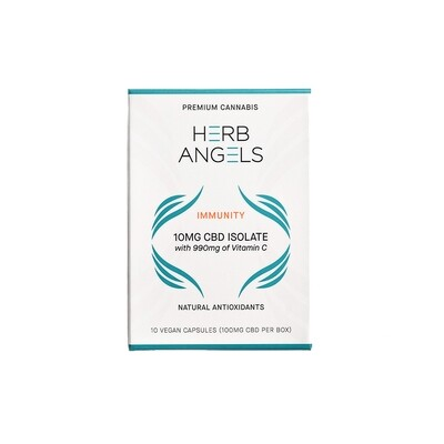 CBD (10mg) + 990mg Vitamin C Capsules By Herb Angels