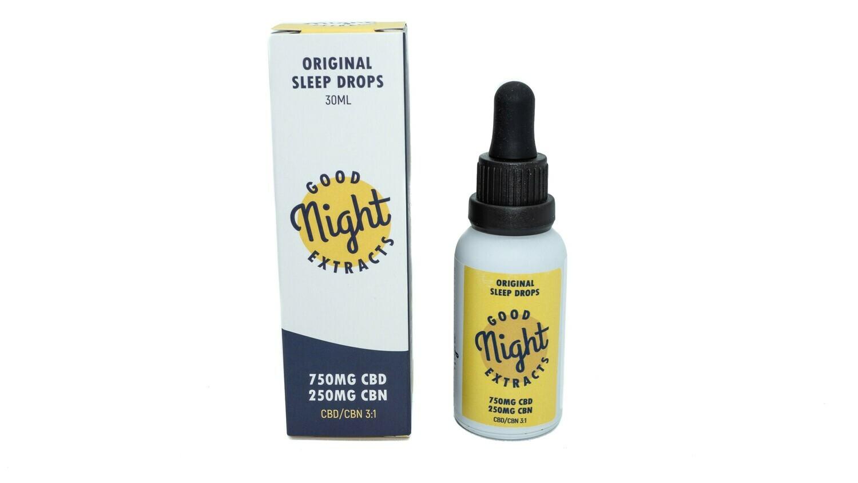 750mg CBD & 250mg CBN Sleep Tincture  (30ml) By Good Night Extracts
