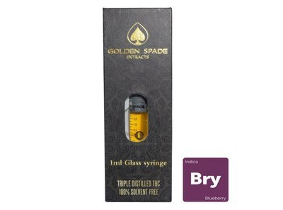 Blueberry (Full Spectrum) (Indica) 1ml Syringe by Golden Spade Extracts