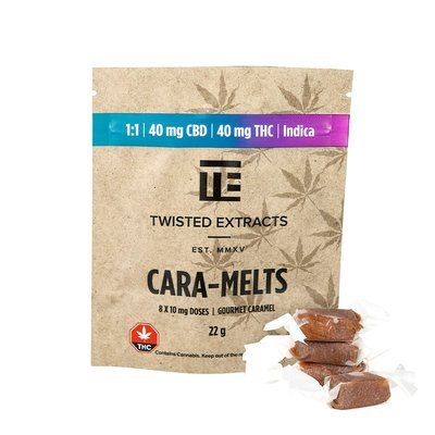 Cara-Melts 1:1 Indica/CBD (40mgTHC/40mg CBD) by Twisted Extracts