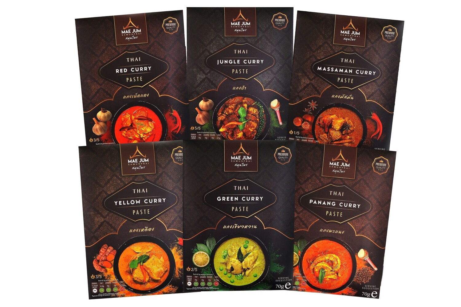 TASTER BUNDLE - Traditional Thai Curry Paste (6 packs x 70g)