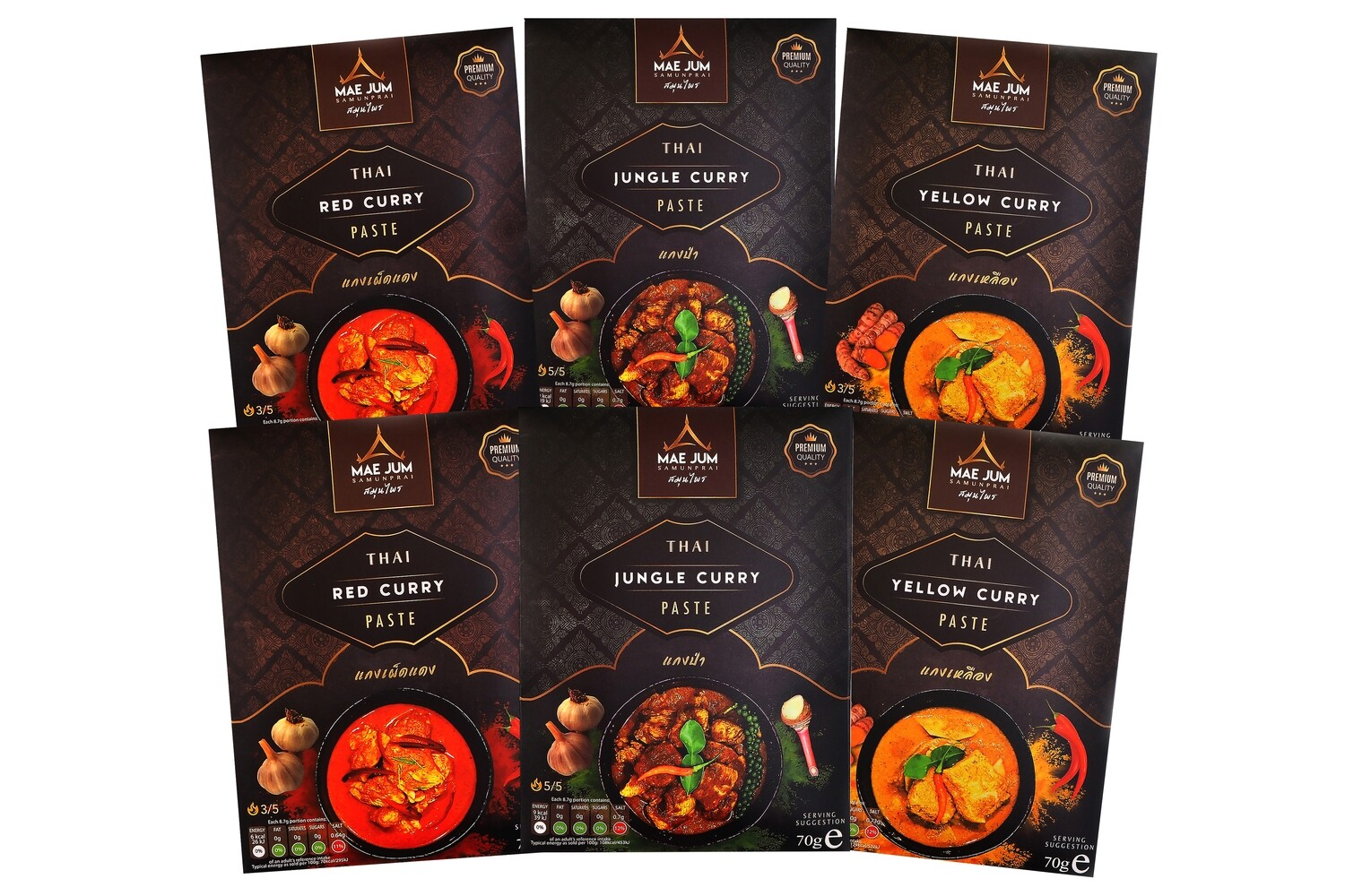 HOT BUNDLE - Traditional Thai Curry Paste (6 packs x 70g)