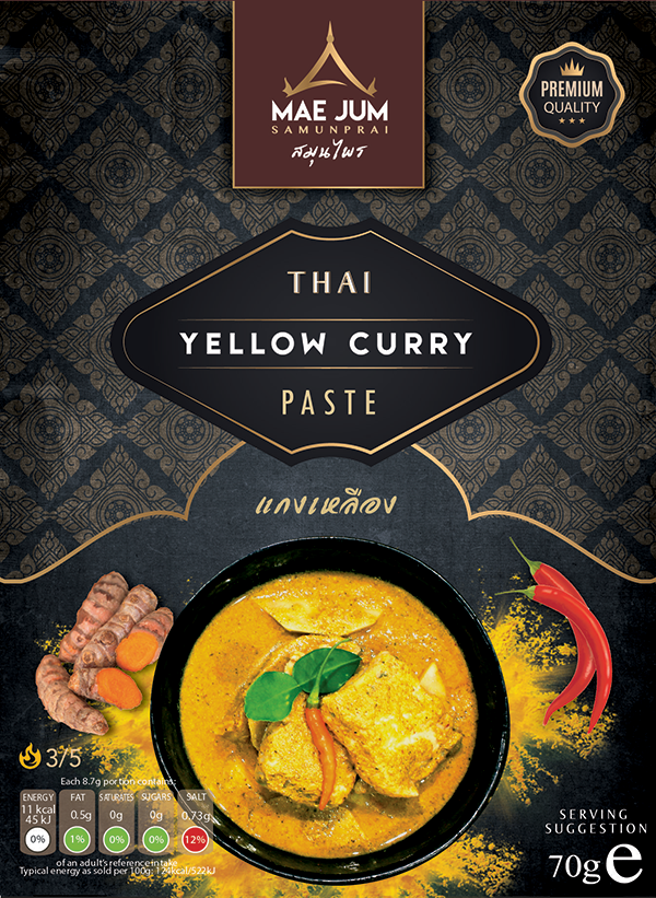 Traditional Thai Yellow Curry Paste