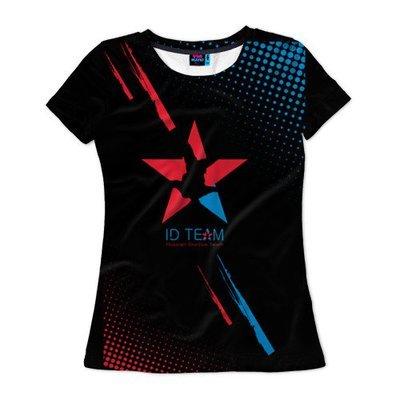 Женская футболка ID TEAM черная