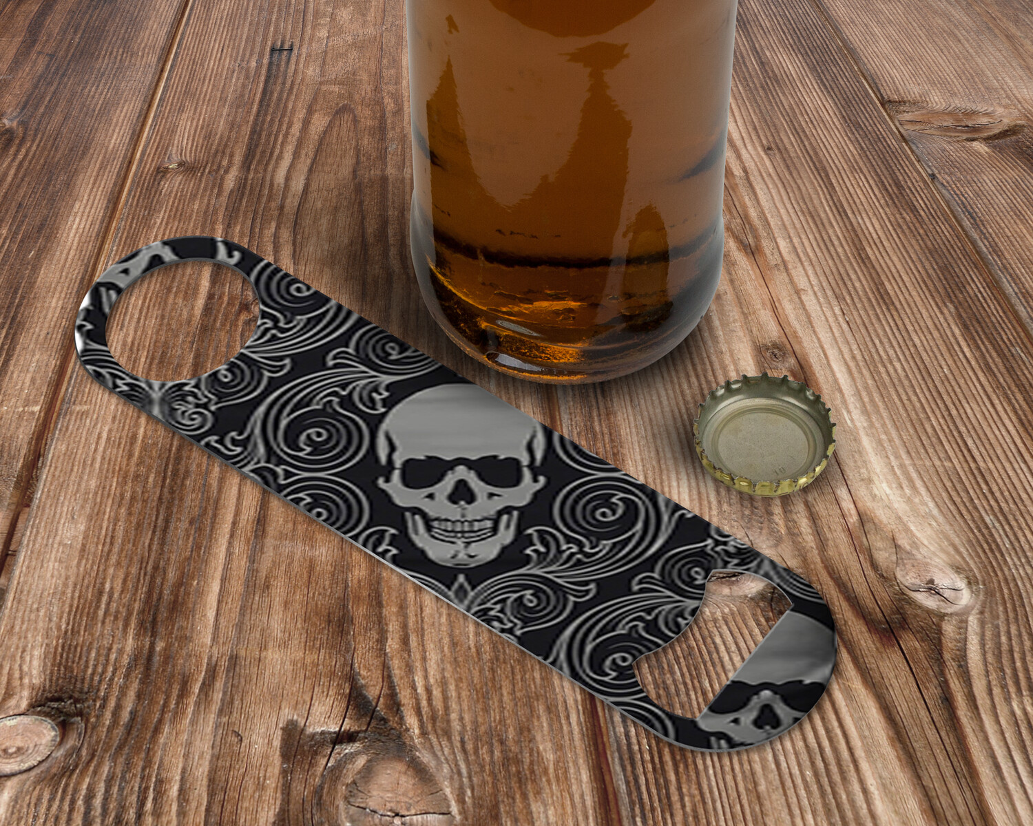 Custom Retro Skull Bottle Opener