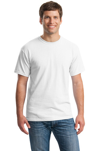 BULK- Gildan 1st Quality 100% Cotton White Screen printed One Color One Side