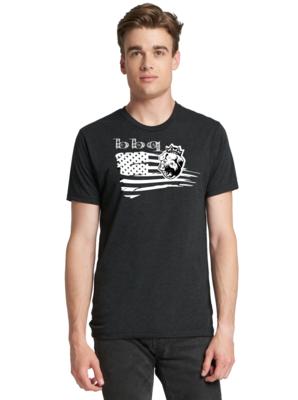 Men's Crew-Neck Shirt White  BBQ USA