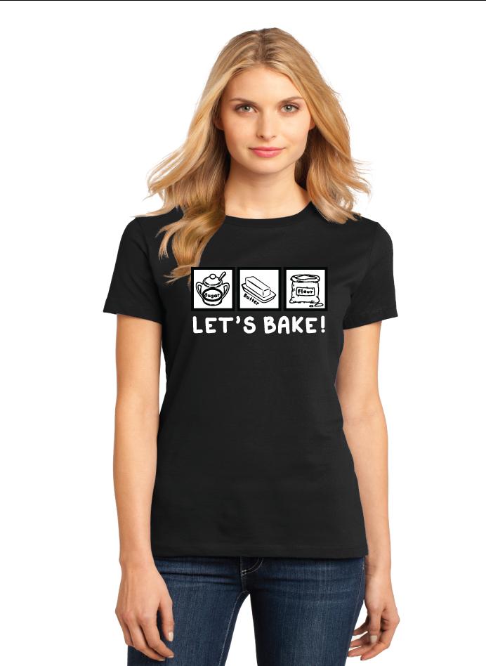 Women's Crew-Neck Shirt  Let's Bake