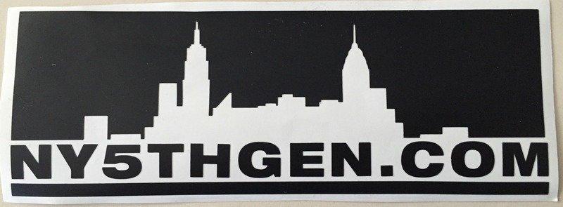 NY5THGEN Skyline Decal (each)