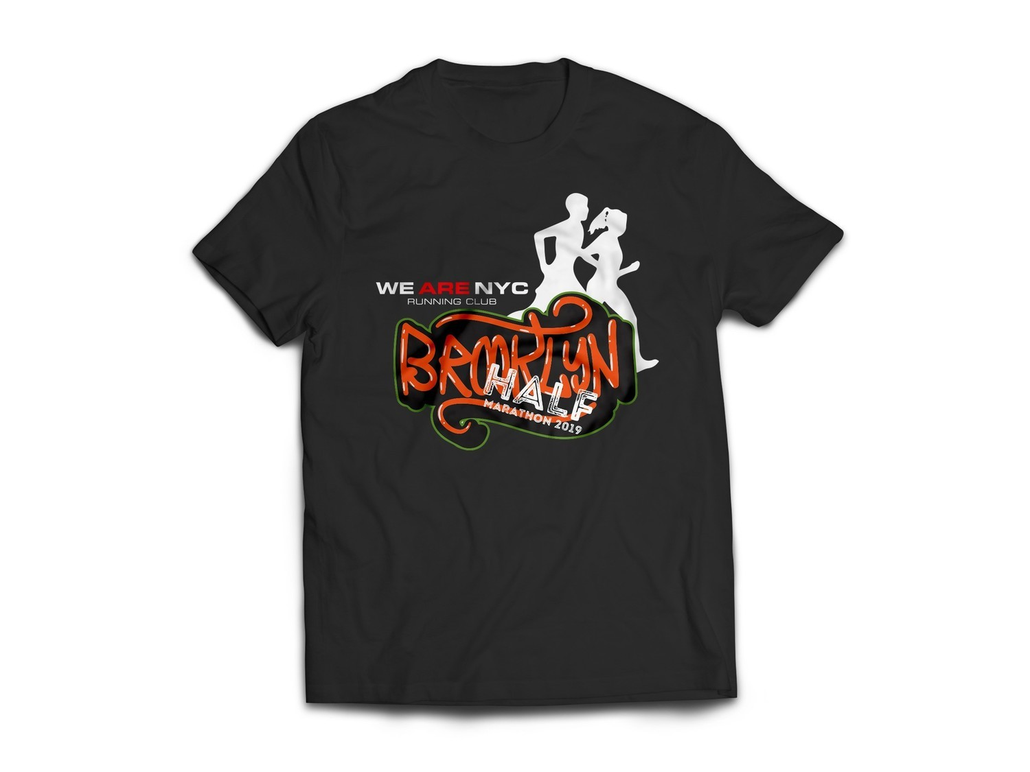 "2019 BROOKLYN HALF ""GRAFFITTI"" T-SHIRT (SHORT & LONG SLEEVE TEES)"