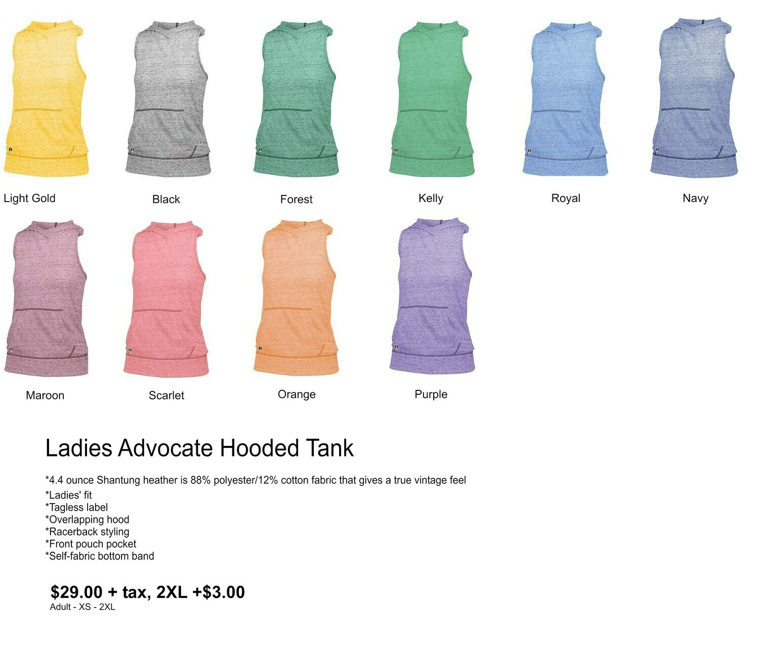 Ladies Advocate Hooded Tank