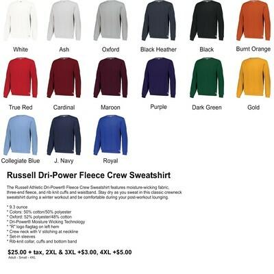 Russell Dri-Power Fleece Crew Sweatshirt