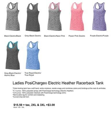 Ladies PosiCharge Electric Heather Racerback Tank