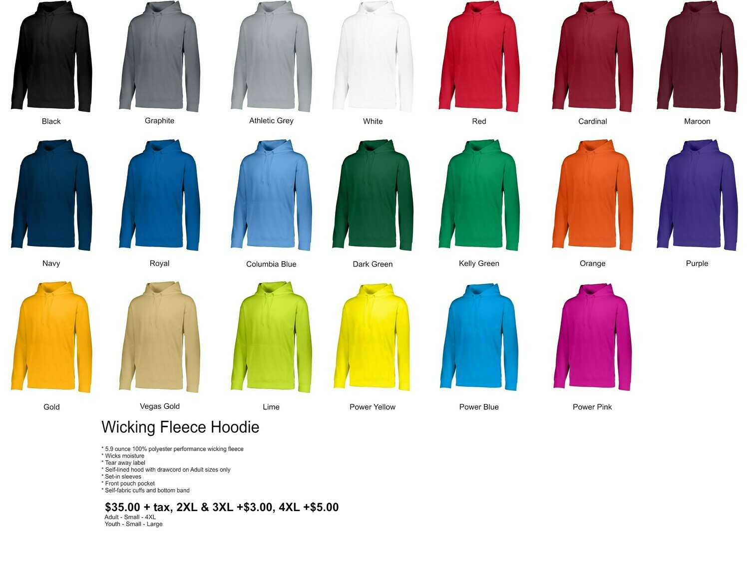 Wicking Fleece Hoodie