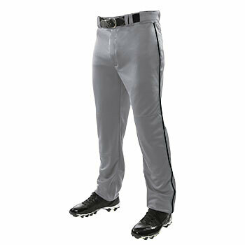 Champro Triple Crown Open Bottom Grey Pants with Black Piping