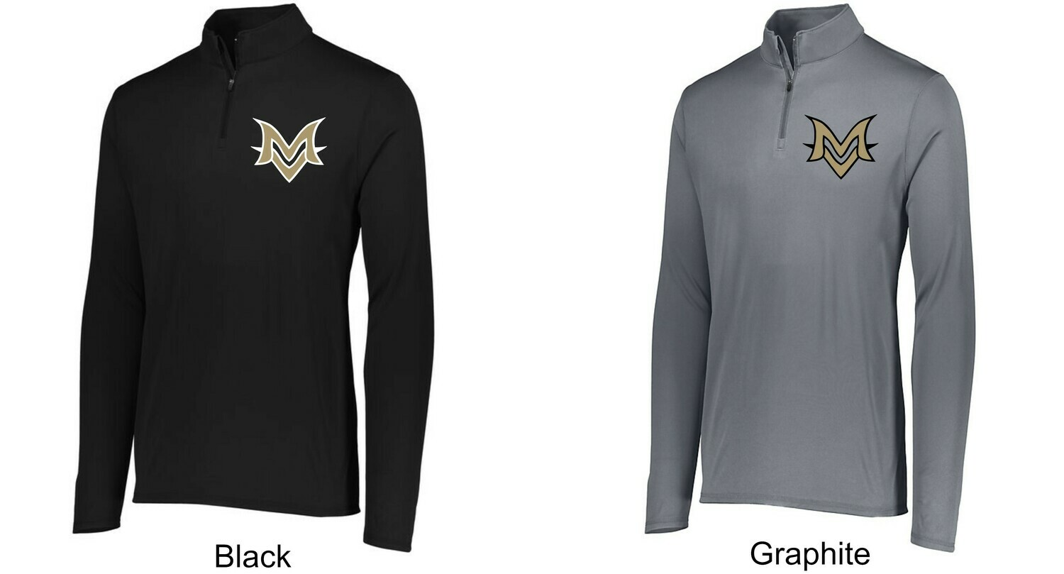 Embroidered Augusta Attain Wicking 1/4 Zip Pullover