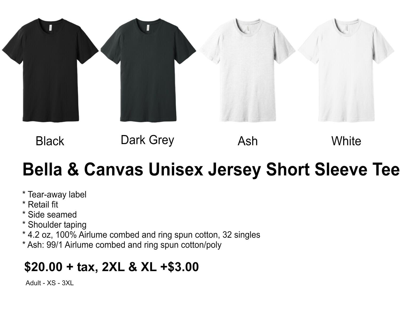 Bella & Canvas Unisex Jersey Short Sleeve Tee