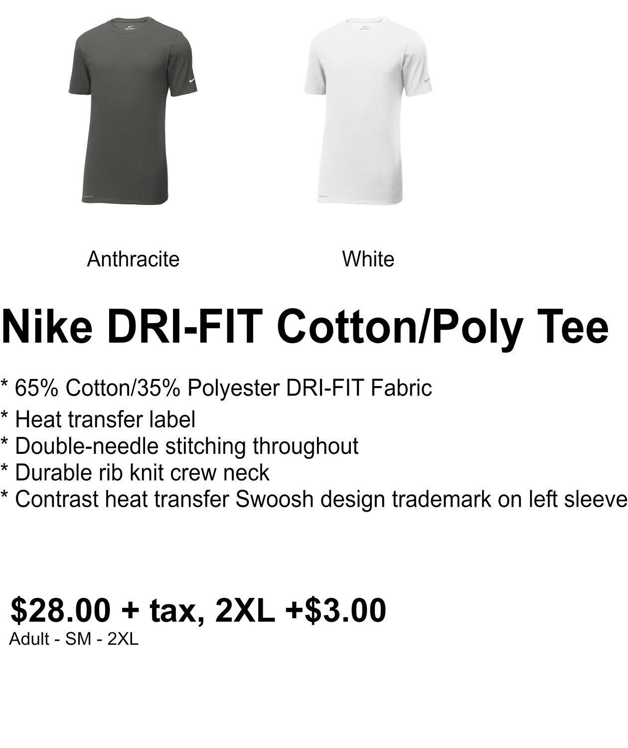 Nike DRI-FIT Cotton/Poly Short Sleeve Tee