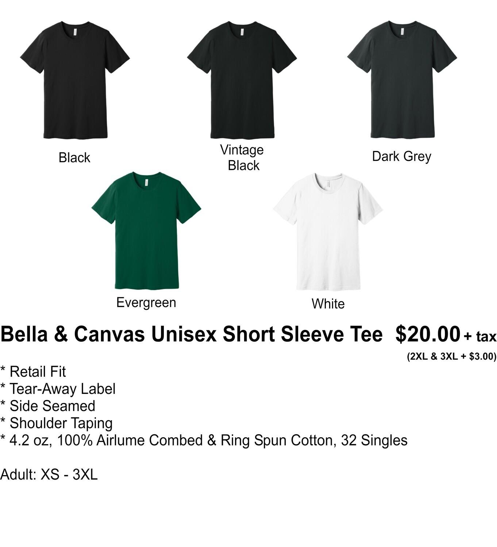 BELLA & CANVAS UNISEX SHORT SLEEVE TEE