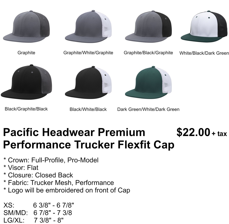 PACIFIC HEADWEAR PREMIUM PERFORMANCE TRUCKER FLEXFIT CAP