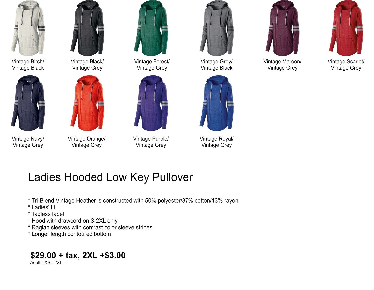 Hooded Low Key Pullover