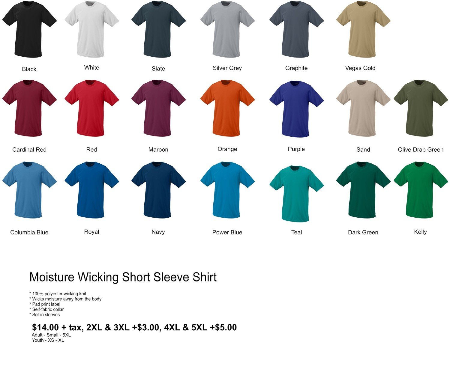 Moisture Wicking Short Sleeve Shirt