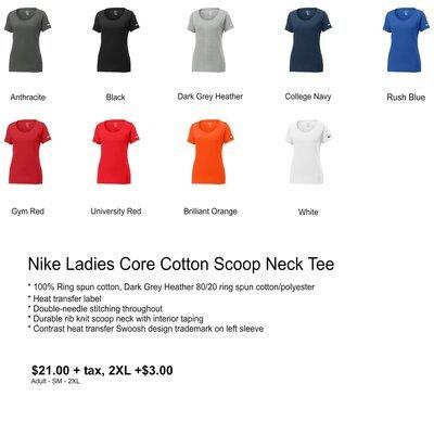 Nike Ladies Core Cotton Scoop Neck Tee