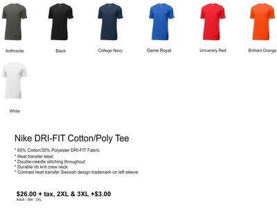 Nike DRI-FIT Cotton/Poly Tee