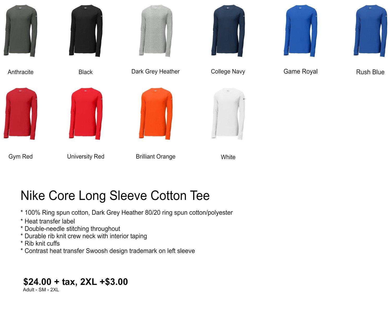 Nike Core Long Sleeve Cotton Tee