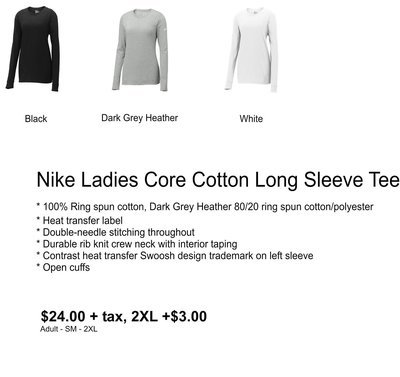 Nike Ladies Core Cotton Long Sleeve Tee