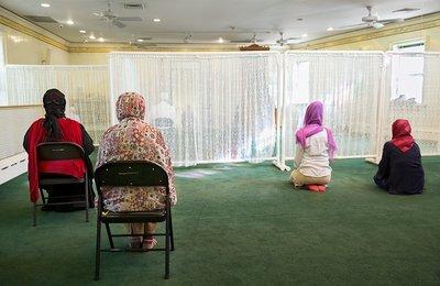 "Muslim Women Praying Framed Print | 20x24"""