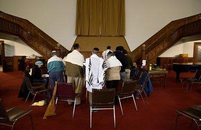 "Jewish Morning Prayer Framed Print | 20x24"""