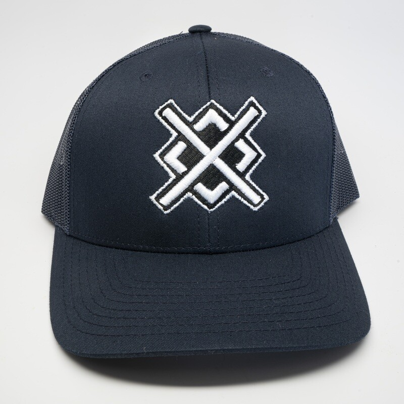 Nardcore Navy Snapback Low Profile Trucker Hat