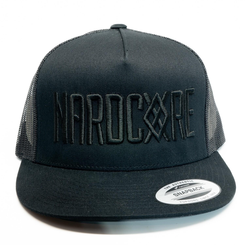 Nardcore Black on Black Trucker Hat