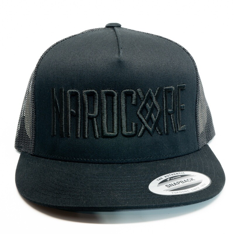 Nardcore Black on Black Trucker Hat