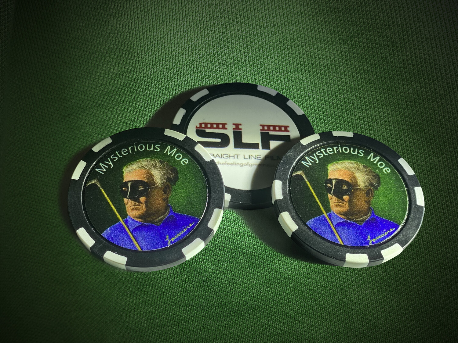 Mysterious Moe Poker Chip - 3 Pack