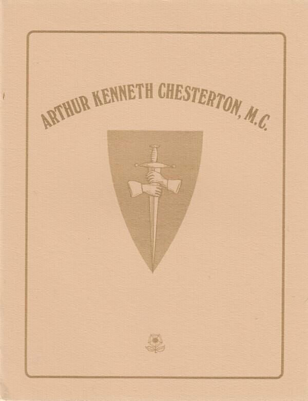 Arthur Kenneth Chesterton, M.C. - Memorial