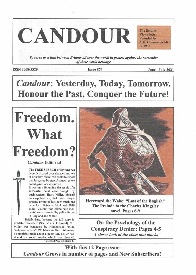 Candour # 876 (June/July 2021)