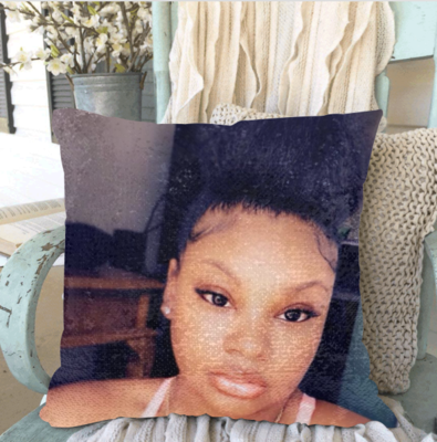 Add your photo to a Personalized Sequin Pillowcase