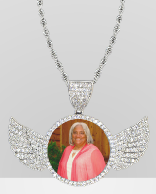 Personalized Angel Wings Necklace
