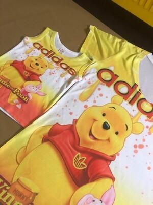 3D Winnie Pooh Tank Top Shirt 👕