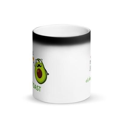 Avo Toast Matte Black Magic Mug
