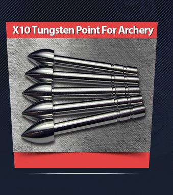 X10 Tungsten Point for Archery