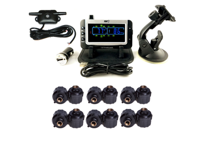 507 Series - 12 RV Cap Sensor TPMS System With Color Display