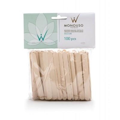 WhiteLine - ITALWAX Набор шпателей деревянных СРЕДНИЕ 10х114мм, 100шт
