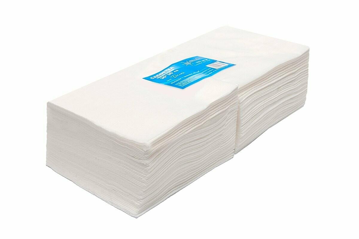 WhiteLine - Салфетка одноразовая 30*30 БЕЛАЯ, спанлейс, 100шт
